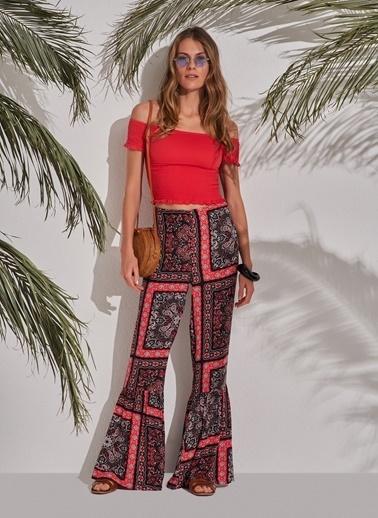 Morhipo Beach Desenli Pantolon Kırmızı